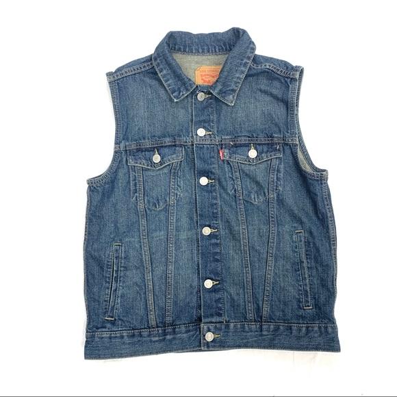 Levi's Jean Vest Size Girls Large